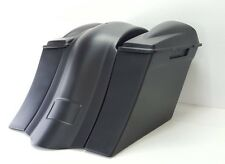 """97-08 Harley 6"""" Saddlebags overlay fender 6.5 #2 Lids No Exhaust Cutout"""