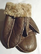 NEW! REAL SHEEPSKIN SHEARLING LEATHER MITTENS GLOVES MITTS VERY WARM SIZE L