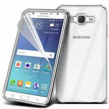 Ultra Thin Clear TPU Gel Skin Case Cover & LCD Film For Samsung Galaxy J5