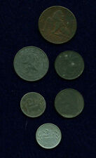 BELGIUM WARTIME ISSUES WWII 1944 & 1945 1 FRANC COINS, 1944 2 FRANCS, WWI 1917..
