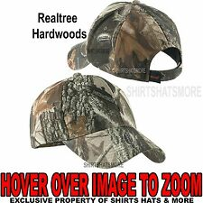 Men's Realtree Hardwoods Camo Hat Baseball Cap Hunting Adjustable NEW!
