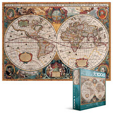 JIGSAW  EG80001997   Eurographics Puzzle 1000 Pc - Antique World Map (8x8 box)