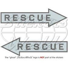 RESCUE Luftwaffe Rettung Pfeil USAF LowVis Flugzeug 140mm Aufkleber x2 Stickers