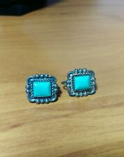 Vintage Southwestern Sterling Silver Turquoise Screw Back Earrings