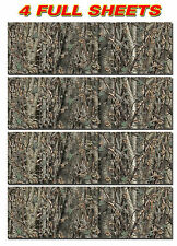 "4 CAMO DECALS MADE FROM 3M WRAP VINYL 48""x15"" TRUCK CAMO TREE PRINT CAMOUFLAGE"