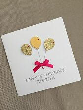 Handmade Personalised Birthday Card 18 21 30 40 50 60 65 Any Age Relation