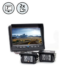 "Rear View Backup Camera - Two Camera Setup RVS-770614 System, 7"" TFT-LCD"