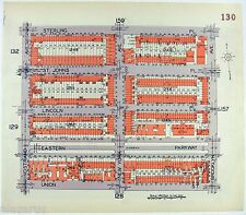 Original 1929 Map of Parts of Central & NW Crown Heights, Brooklyn.