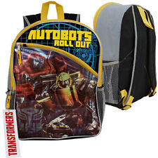 "TRANSFORMERS AUTO BOTS ROLL OUT Kids Boys School 16"" Backpack Book Bag Mochila"