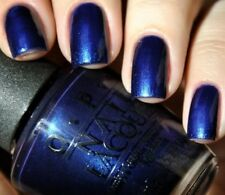 NEW! OPI Nail Polish Vernis YOGA-TA GET THIS BLUE ~ Deep, dark blue Shimmer