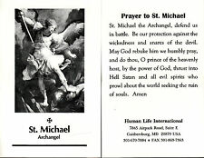 CATHOLIC HOLY CARD  PRAYER TO ST. MICHAEL