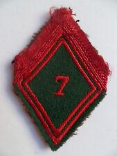 Losange tissu Losange 45 Patch modèle 1945 7° TRAIN ORIGINAL FRENCH ARMY