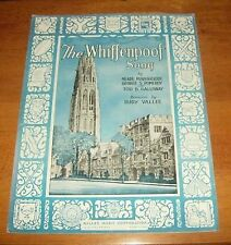 Sheet Music The Whiffenpoof Song  1936