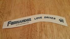 Fernandes Love Driver waterslide headstock decal replacement Ken L'Arc~en~Ciel