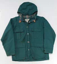 Vintage LL Bean Womans Baxter State Parka Jacket Medium Green Wool Plaid Lining