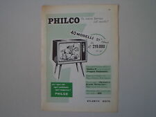 advertising Pubblicità 1957 TELEVISORE PHILCO GOLDEN D