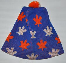 vintage CANADA MAPLE LEAF TOQUE Winter Hat (Tuque) 1980s