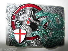 George and the dragon patriotic belt buckle.England.