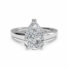 14kt White Gold Rings Diamond Wedding Engagement Ring 2.00Ct Ebay Diamond Rings