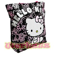 Sanrio Hello Kitty Tote Bag Black and Pink Glitter, NEW