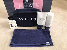 Jack Wills para hombre Caballeros Viaje Gimnasio Bolsa De Lavado Con Toalla, Body Wash & Spray-Bnwt