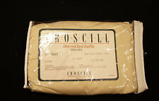 "CROSCILL Malibu Shirred Bed Ruffle Skirt Color: Natural Ecru Sz: Twin 14"" Drop"