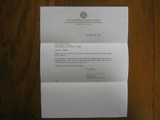 LEON  BLACK  Signed 1972 Personal  Letter  Texas Longhorn Men's Basketball Coach