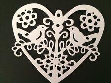 10 Blanco Corazón dado Corta Ideal Para Bodas/aniversarios/tarjetas de San Valentín
