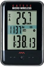 CatEye Micro Wireless CC-MC200W Wireless Bike Computer Cyclometer Black
