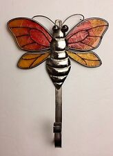 Metal and Glass BUMBLE BEE Wall Mount Hook