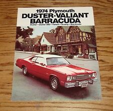 Original 1974 Plymouth Duster Valiant Barracuda Sales Brochure 74