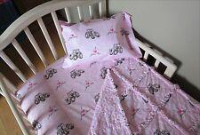 Toddler Bed I LOVE (HEART) JOHN DEERE Paisley Fabric CRIB Bedding Set Rag Quilt