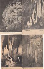 Lot 4 cartes postales anciennes BELGIQUE HAN SUR LESSE GROTTE 6