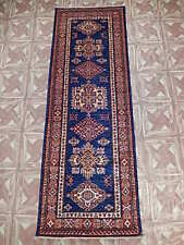 Super Kazak Attic Carpet Handmade Runner 2x6