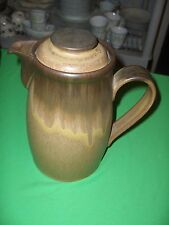 Vintage 2 Pc Coffee Pot Denby-Langley China Pottery Romany-Brown NICE