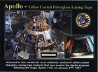 Apollo 1 Teflon-Coated Lacing Tape on Gorgeous Certificate - NASA - Apollo One