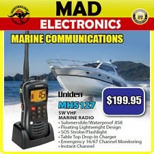 UNIDEN MHS127 5W VHF MARINE COMMUNICATION RADIO WATERPROOF JIS8