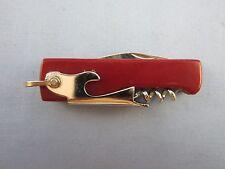 VINTAGE  CORKSCREW BOTTLE OPENER POCKET KNIFE  ( COOL OLD KNIFE )