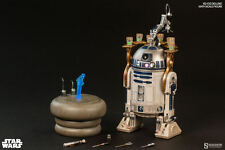 HOT TOYS STAR WARS R2-D2 with MINI LEIA 1/6 Scale Figure Sideshow DELUXE R2D2