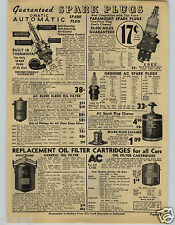 1941 PAPER AD Omatic Paramount AC Spark Plugs Cleaner Counter Merchandiser