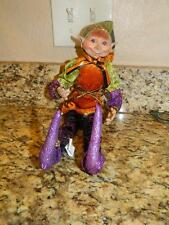 "Raz 16"" Halloween Posable Elf Ornament"