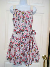 DOLCE & GABBANA FLORAL BOUQUET FULL SWING DRESS SIZE 40 MADE IN ITALY