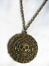 Piratas Del Caribe Azteca Moneda Medallón De Calavera encanto Fancy Dress Collar