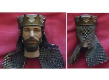 """Male King Knight Head for SideShow 1/6 scale 12"""" Action Figure. Dragon BBI"""
