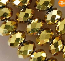 1000pcs 3x4mm Gold AB Swarovski Crystal Gemstone Loose Bead #5040 cc57
