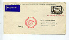 Germany 1930 Graf Zeppelin South America Flight Cover to Seville - C39