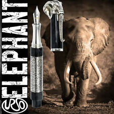 URSO Luxury Elephant Limited Edition Silver Fountain Pen