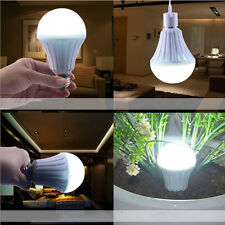 7W E27 Rechargeable Emergency Light LED Bulb Intelligent Lamp 220V