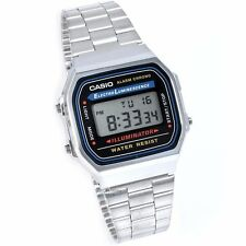 A168WA-1W Silver Original Casio Digital Unisex Watches date A168WA-1W Brand-New