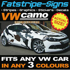 VW VOLKSWAGEN FULL CAR CAMO KIT VINYL GRAPHICS STICKERS DECALS BONNET ROOF GOLF